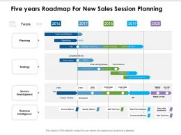 Five Years Roadmap For New Sales Session Planning