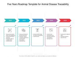 Five Years Roadmap Template For Animal Disease Traceability
