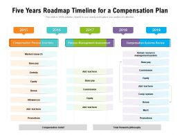 Five Years Roadmap Timeline For A Compensation Plan