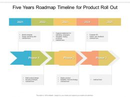 Five Years Roadmap Timeline For Product Roll Out