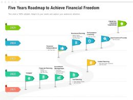Five Years Roadmap To Achieve Financial Freedom