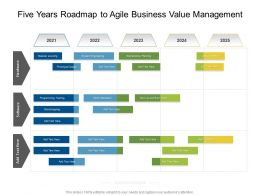 Five Years Roadmap To Agile Business Value Management