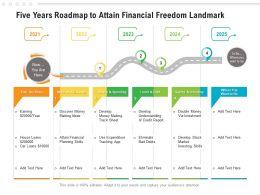Five Years Roadmap To Attain Financial Freedom Landmark