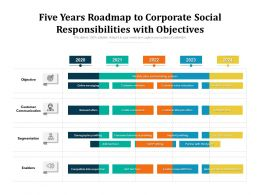 Five Years Roadmap To Corporate Social Responsibilities With Objectives
