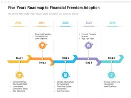 Five Years Roadmap To Financial Freedom Adoption