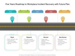 Five Years Roadmap To Workplace Incident Recovery With Future Plan