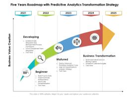 Five Years Roadmap With Predictive Analytics Transformation Strategy