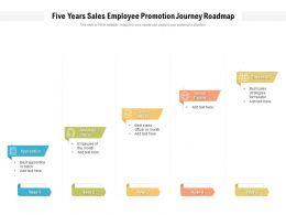 Five Years Sales Employee Promotion Journey Roadmap
