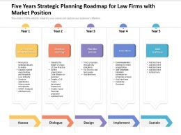 Five Years Strategic Planning Roadmap For Law Firms With Market Position