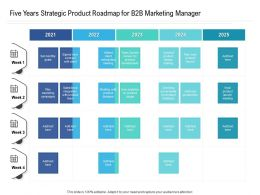 Five Years Strategic Product Roadmap For B2B Marketing Manager