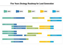 Five Years Strategy Roadmap For Lead Generation