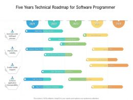 Five Years Technical Roadmap For Software Programmer