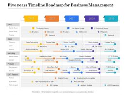 Five Years Timeline Roadmap For Business Management