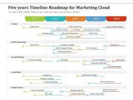 Five Years Timeline Roadmap For Marketing Cloud