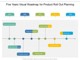 Five Years Visual Roadmap For Product Roll Out Planning