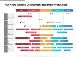 Five Years Website Development Roadmap For Business