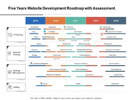 Five Years Website Development Roadmap With Assessment