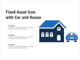 Fixed Asset Icon With Car And House