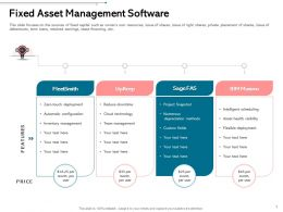 Fixed Asset Management Software Numerous Ppt Powerpoint Infographics Guide