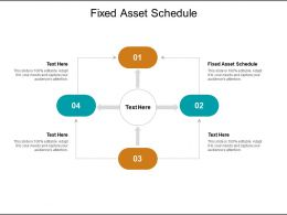 Fixed Asset Schedule Ppt Infographic Template Graphics Example Cpb