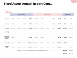 Fixed Assets Annual Report Cont Management Information Ppt Powerpoint Presentation
