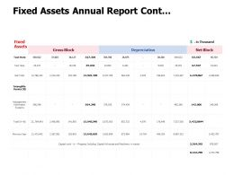 Fixed Assets Annual Report Cont Management Marketing Ppt Powerpoint Presentation File Model