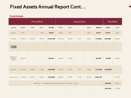 Fixed Assets Annual Report Cont Ppt Powerpoint Presentation Slide