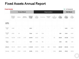 Fixed Assets Annual Report Ppt Powerpoint Presentation File Slide