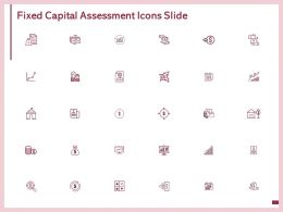 Fixed Capital Assessment Icons Slide Calculator Matrix Ppt Powerpoint Presentation Outline Example