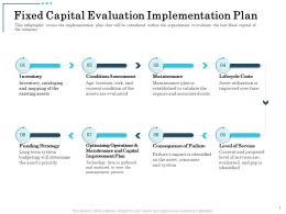 Fixed Capital Evaluation Implementation Plan Condition Assessment Ppt Example 2015