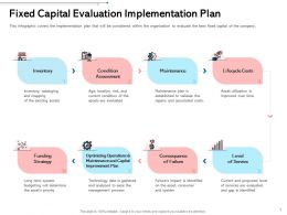 Fixed Capital Evaluation Implementation Plan Established Ppt Powerpoint Infographics Layouts