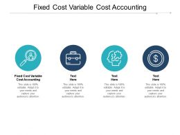Fixed Cost Variable Cost Accounting Ppt Powerpoint Presentation Styles Demonstration Cpb