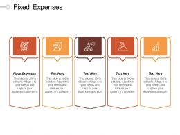 Fixed Expenses Ppt Powerpoint Presentation File Brochure Cpb