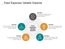 Fixed Expenses Variable Expense Ppt Powerpoint Presentation Summary Slide Download Cpb