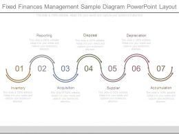 Fixed Finances Management Sample Diagram Powerpoint Layout