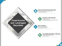Fixed Income And Leveraged Securities Ppt Powerpoint Presentation File Layouts