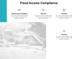 Fixed Income Compliance Ppt Powerpoint Presentation Visual Aids Outline Cpb