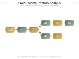 Fixed Income Portfolio Analysis Ppt Powerpoint Presentation File Master Slide Cpb