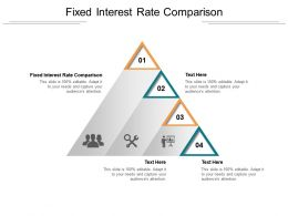 Fixed Interest Rate Comparison Ppt Powerpoint Presentation Model Structure Cpb