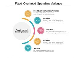 Fixed Overhead Spending Variance Ppt Powerpoint Presentation Show Shapes Cpb