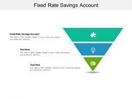 Fixed Rate Savings Account Ppt Powerpoint Presentation Portfolio Design Ideas Cpb