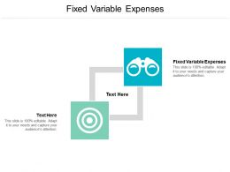Fixed Variable Expenses Ppt Powerpoint Presentation Background Image Cpb