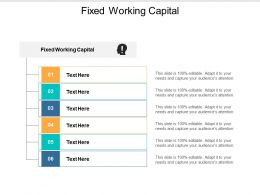Fixed Working Capital Ppt Powerpoint Presentation Professional Maker Cpb