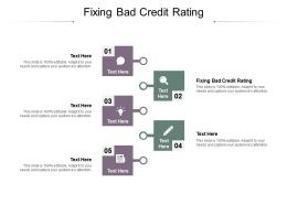 Fixing Bad Credit Rating Ppt Powerpoint Infographic Template Backgrounds Cpb