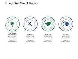 Fixing Bad Credit Rating Ppt Powerpoint Presentation Summary Infographic Template Cpb