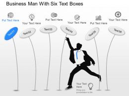 fj Business Man With Six Text Boxes Powerpoint Template