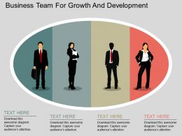 fj Business Team For Growth And Development Flat Powerpoint Design