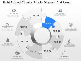 fk Eight Staged Circular Puzzle Diagram And Icons Powerpoint Template