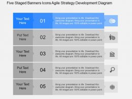 fk Five Staged Banners Icons Agile Strategy Development Diagram Powerpoint Template