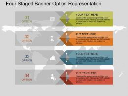Fk Four Staged Banner Option Representation Flat Powerpoint Design
